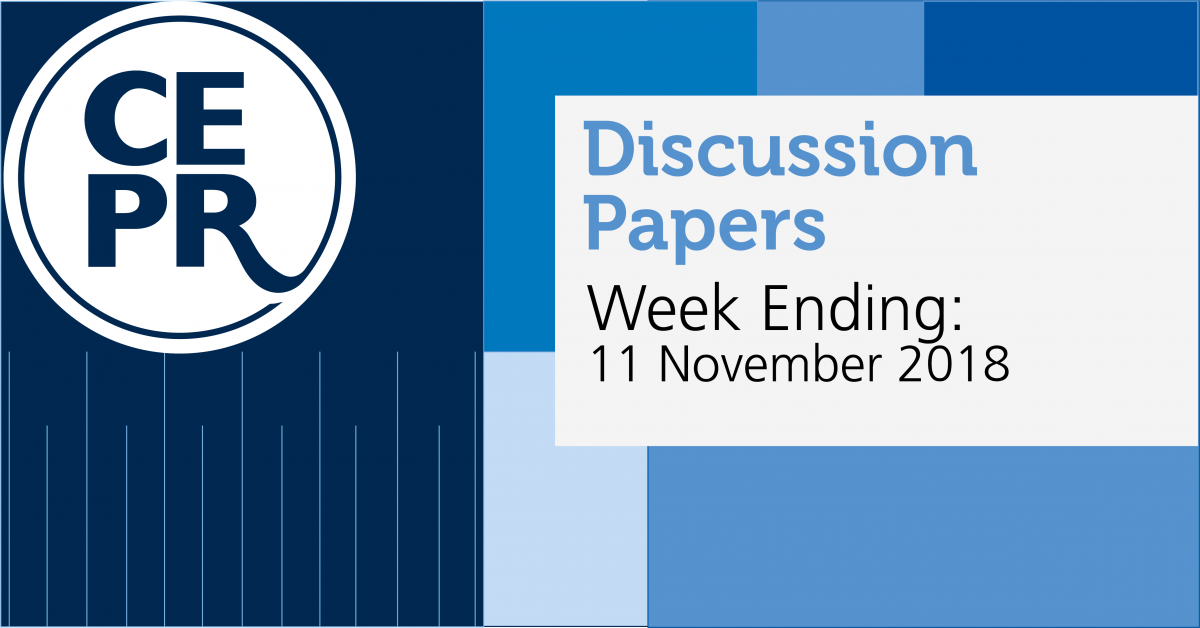 CEPR Discussion Papers 11 November 2018
