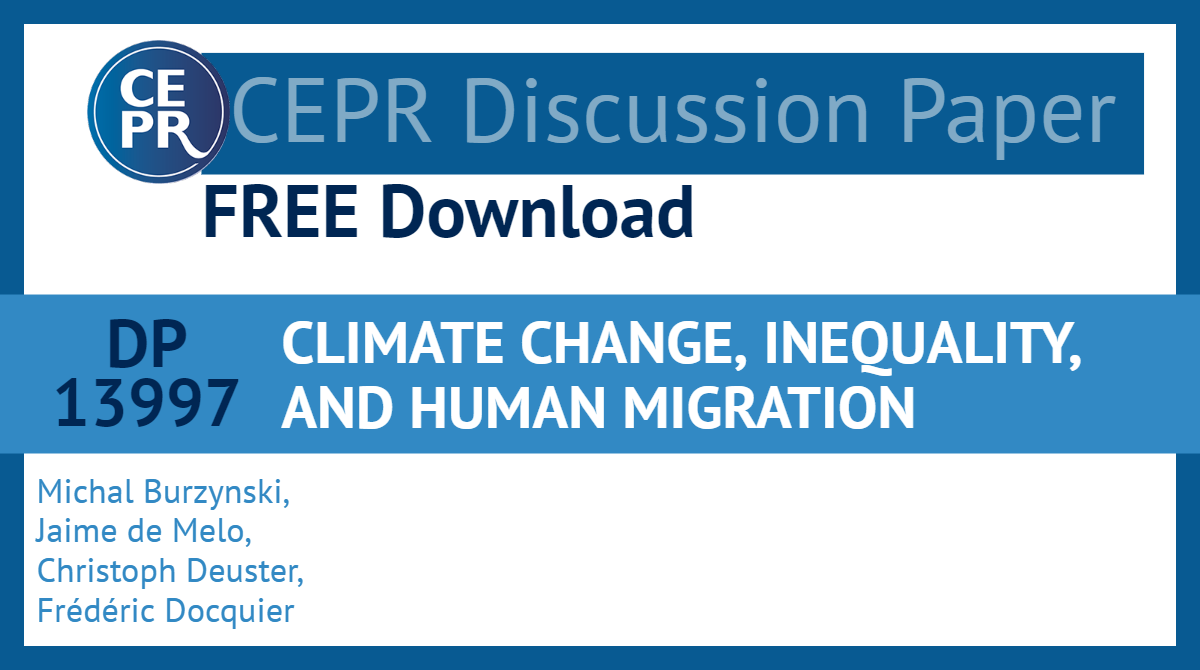 CLIMATE CHANGE, INEQUALITY, AND HUMAN MIGRATION