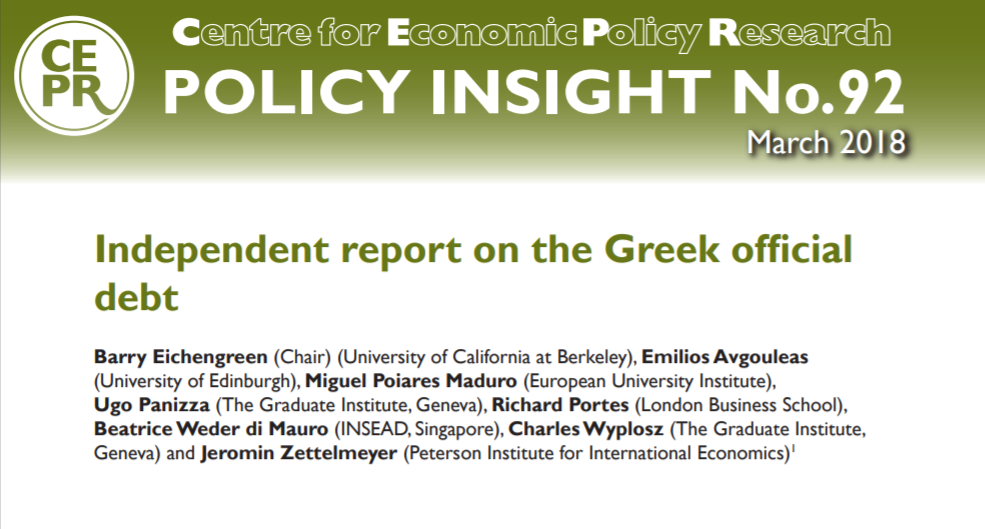 New Policy Insight No 92 Independent Report On The Greek